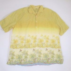 Tommy Bahama 3X Tall Hawaiian Shirt Linen Blend